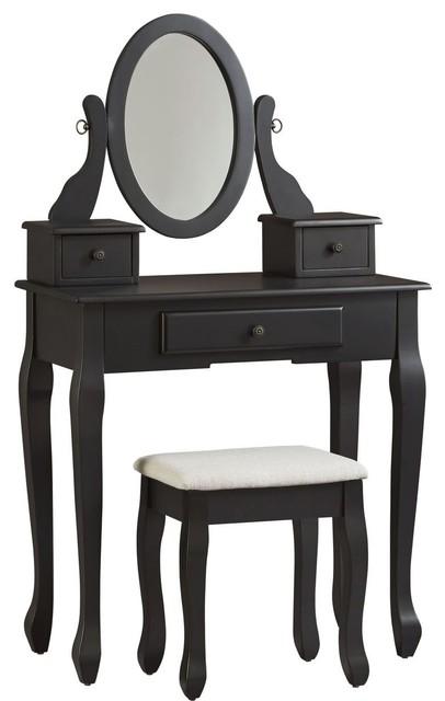 Ashley Furniture Huey Vineyard Vanity Set Black Traditional Bedroom Makeup Vanities By The Sleepers Pe
