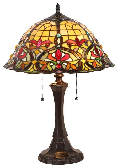 Bertram 2 Light Victorian Table Lamp