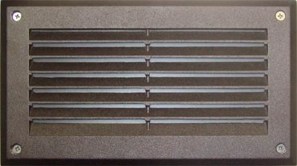 Recessed Louvered Brick/Step/Wall Light Bronze, Bronze