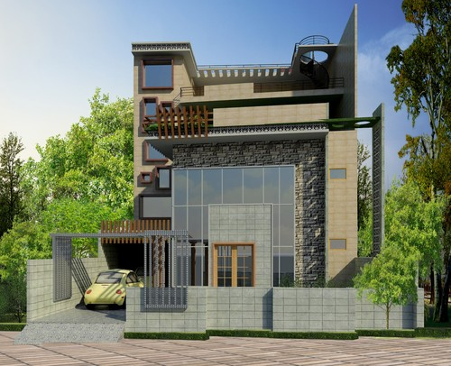 Need help for my building elevation jali work need lots for Architecture design for home in lucknow