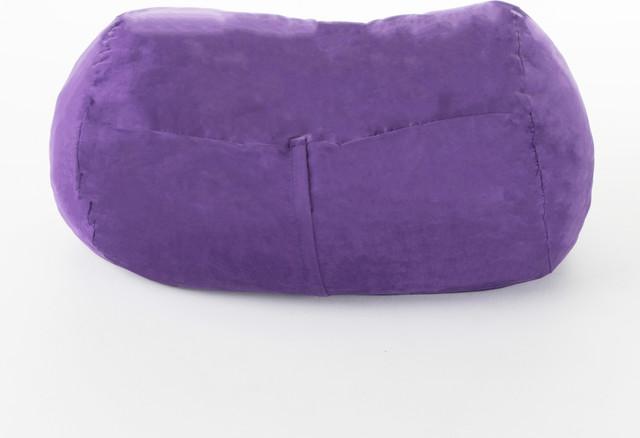 Fabulous Gdf Studio Cassell Purple Fabric 4 Foot Lounge Beanbag Chair Cjindustries Chair Design For Home Cjindustriesco