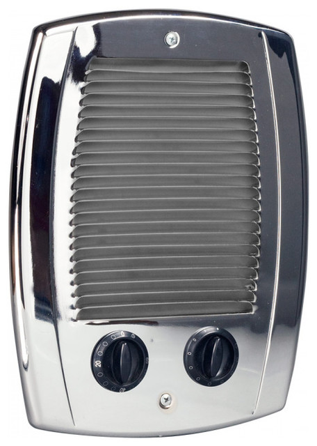 Com Pak Bath 1000 Watt Electric Wall Heater Chrome Modern E