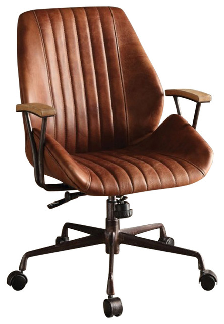Magnificent Metal Leatherette Executive Office Chair Cocoa Brown Gamerscity Chair Design For Home Gamerscityorg