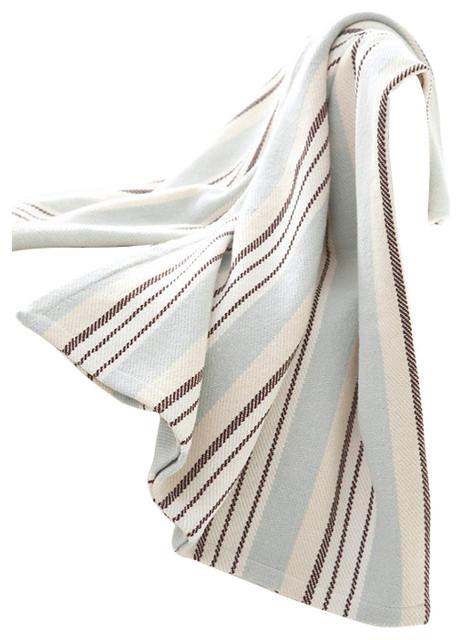 Dash and albert vanilla sky woven cotton throw for Dash and albert blankets