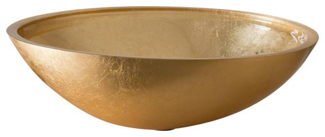 Foglia Bathroom Vessel Sink, 37 cm