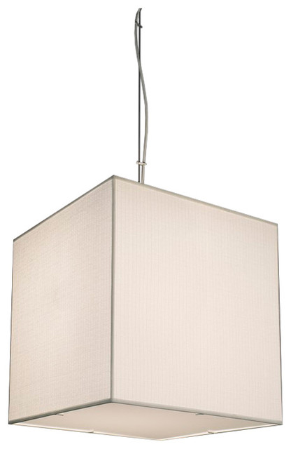 Large Cube Fabric Pendant Light With Top/Bottom Diffusers transitional-pendant-lighting  sc 1 st  Houzz & Large Cube Fabric Pendant Light With Top/Bottom Diffusers ... azcodes.com