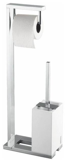 Demetra 1901 Stand with Toilet Paper Holder and Toilet Brush