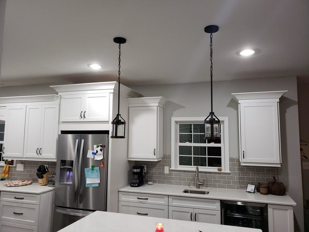 New Kitchen, Flooring, & Lighting Remodel - AMAZING Transformation!!