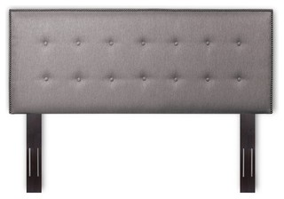 Fashion Bed Easley King California King Upholstered Headboard in Gray