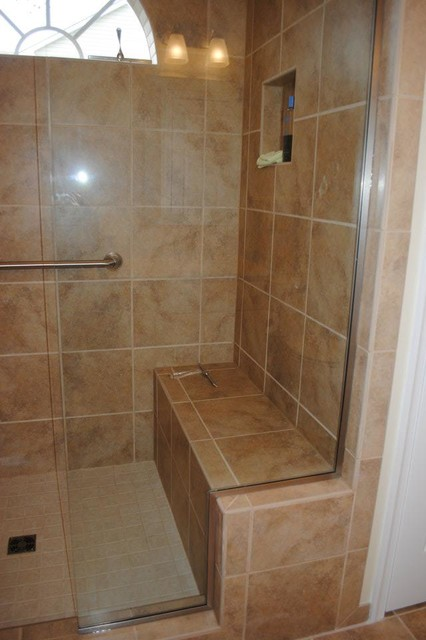 Porcelain Tile Floors Shower Glass Shower Enclosure