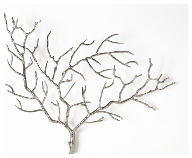 Edwin Tree Wall Accents, Polished Nickel.