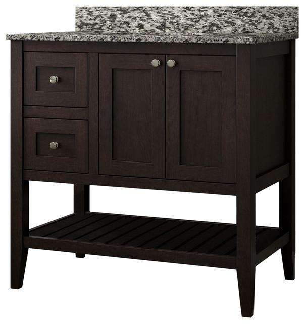 Vanguard Bathroom Vanity With Open Shelf Bottom ...