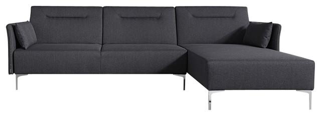Divani Casa Rixton Modern Grey Fabric Sofa Bed Sectional