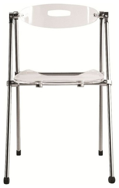 folding living room furniture acrylic folding chair clear modern living room 13988