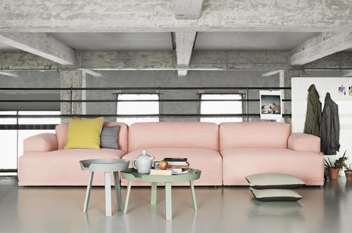 【Houzz】ソファで考える、大人っぽくハイセンスなピンクの使い方 11番目の画像
