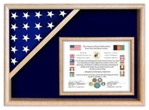 flag display cases - certificate flag shadow box hand made by ...