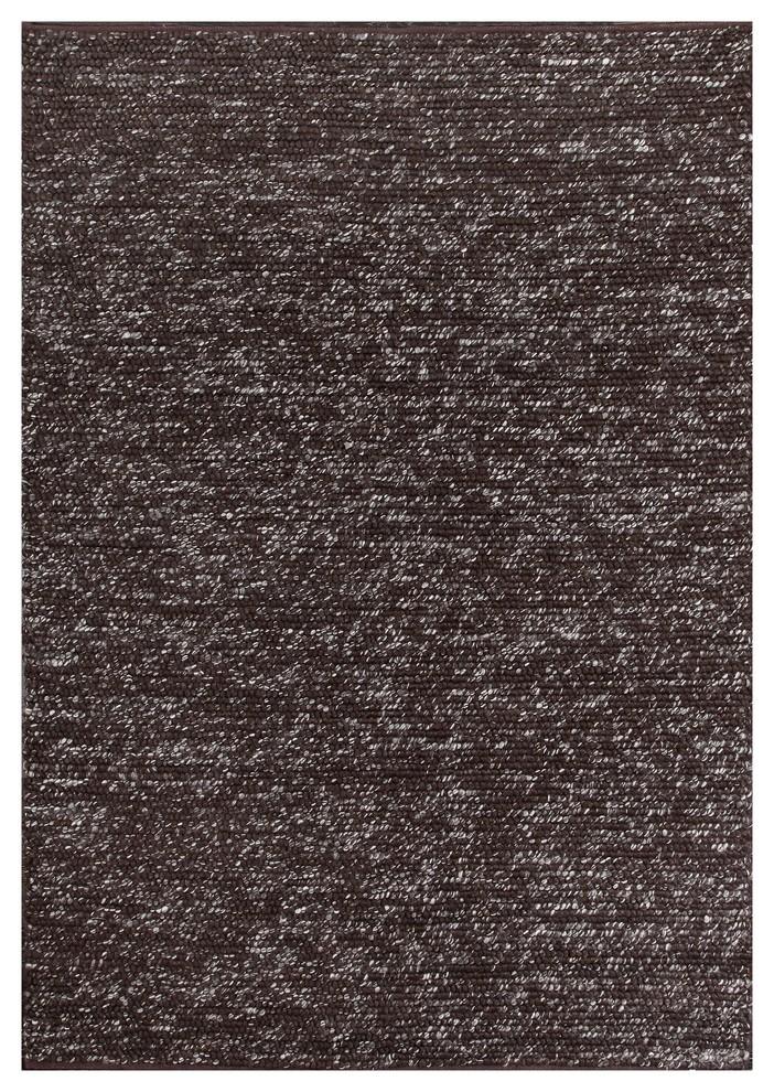 Rugsville Shag Dilana Brown Wool Rug