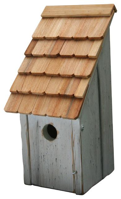 Bluebird Bunkhouse Bird House, White