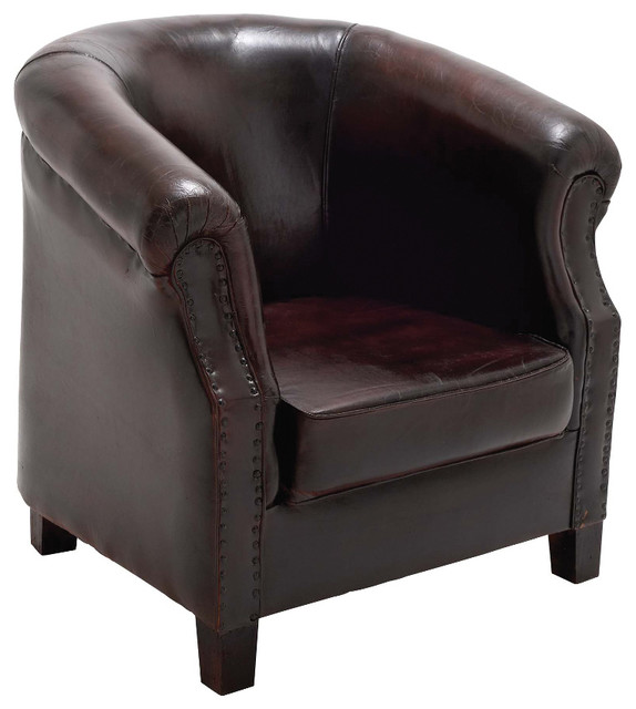 Modern Style The Stunning Wood Leather Captains Chair Home