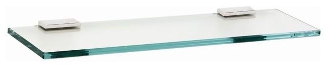 """Alno 24"""" Glass Shelf with Brackets Modern in Polished Chrome"""