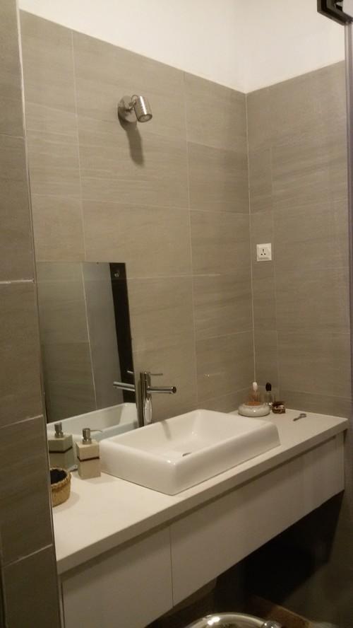 specchio bagno decentrato