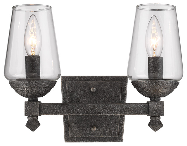 Bathroom Vanity Lights Traditional : Golden Lighting Golden Lighting 1208-BA2 Marcellis 2 Light Bathroom Vanity Light - Bathroom ...