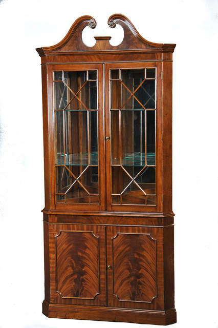 Niagara Furniture, Large Mahogany Corner Cabinet - Traditional - China Cabinets And Hutches - by ...