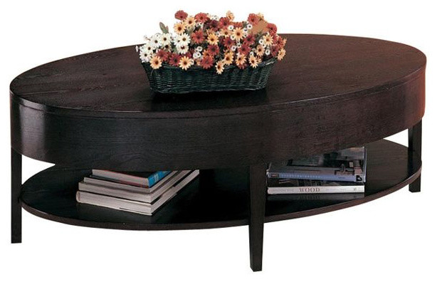 Oval Coffee Table With Shelf.Coaster Gough Oval Coffee Table With Shelf