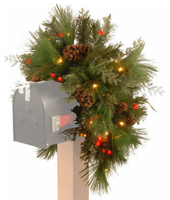 36 Quot Pine Christmas Mailbox Swag Garland With 63 White