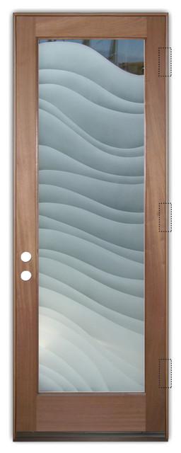 Glass Front Entry Door Sans Soucie Art Glass Dreamy Waves 2D