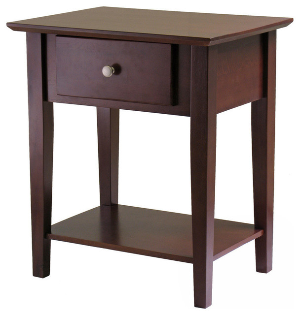 Winsome Wood Shaker Nightstand W/ Drawer.