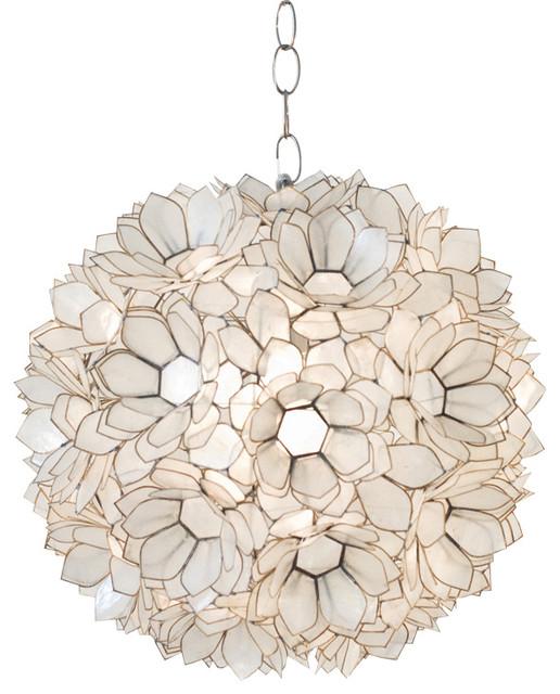 Wonderful Worlds Away Capiz Shell Off White Lotus Pendant VENUS Beach Style Pendant  Lighting Photo Gallery
