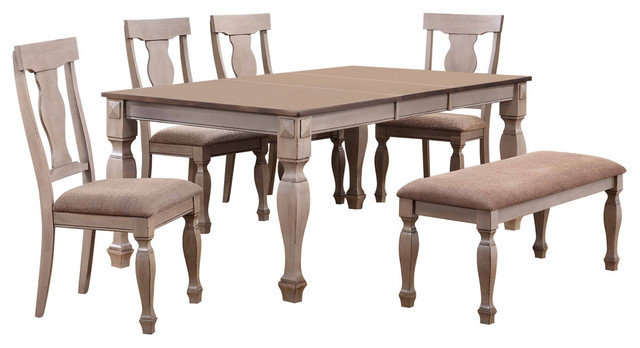 Joanna 6-Piece Dining Table Set With Bench.