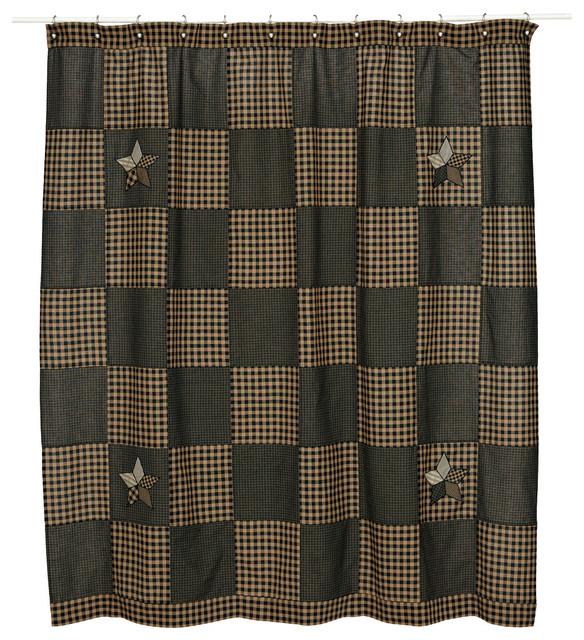 Farmhouse Star Shower Curtain 72x72