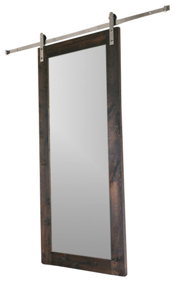 Modern Mirror Barn Door Rustic Interior Doors By