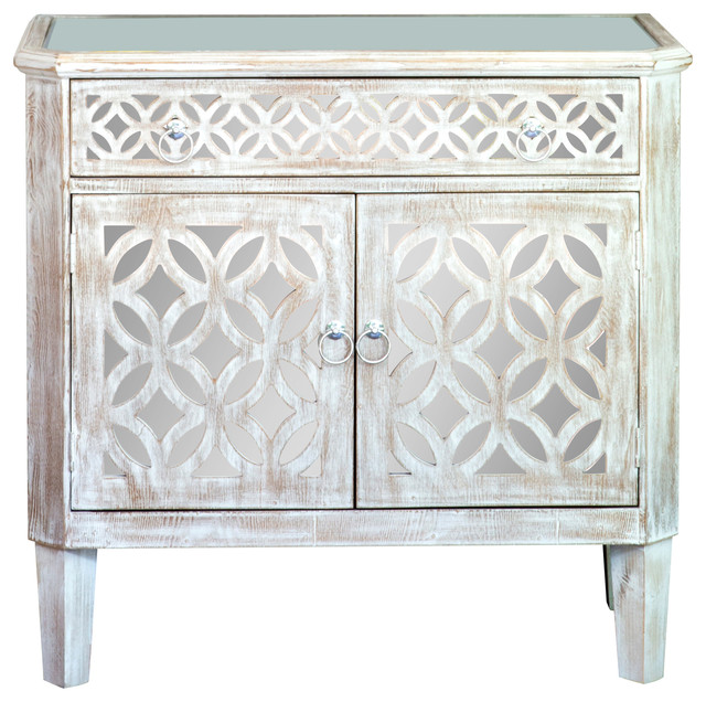Statements By J   Stacy Mirrored Cabinet   Accent Chests And Cabinets