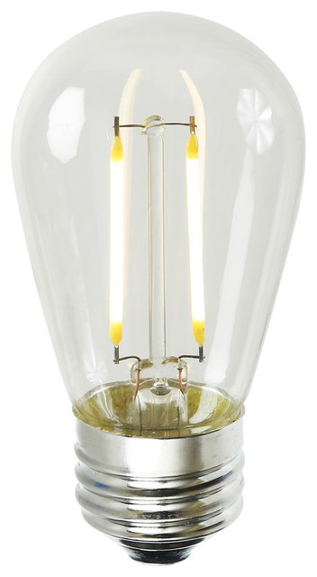S14 Led Filament 1.6w Bulb 1 And Pack, Warm White.
