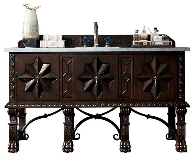 Balmoral 60 Antique Walnut Single Vanity by James Martin Furniture
