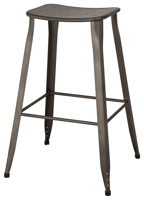 Sheet Metal Frame Tolix Style Backless Bar Stool 30