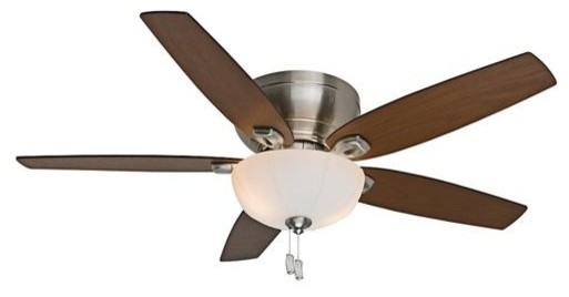 "Casablanca 54"" Durant Bowl Brushed Nickel Ceiling Fan With Light."