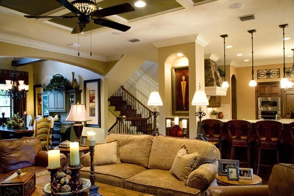 Tuscan traditional great room traditional family for Traditional great room designs
