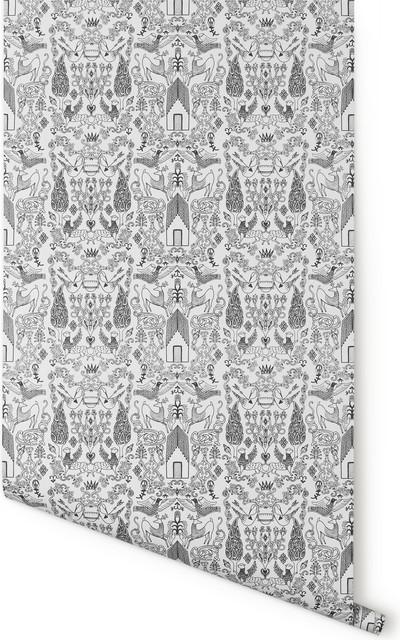 Nethercote Wallpaper, White & Black