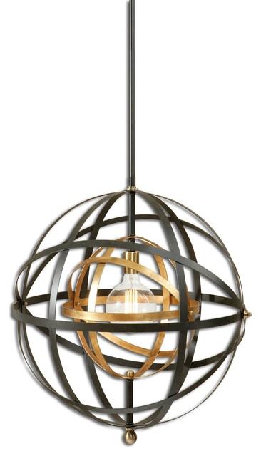 uttermost rondure 1 light sphere pendant hover to zoom