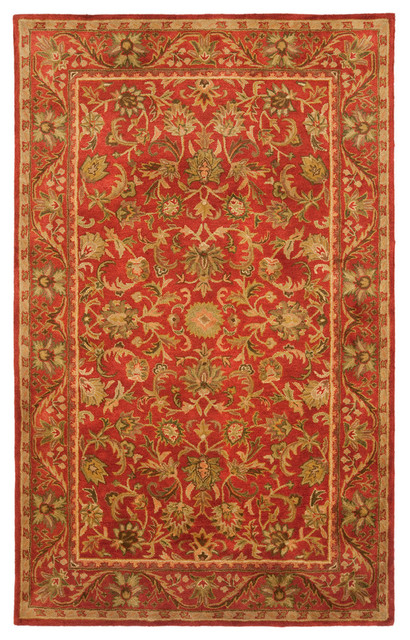 Safavieh Antiquity Hand Tufted Rug, Red/Red, 6'x9'
