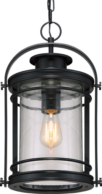Luxury Midcentury Modern Black Outdoor Pendant Light Uql1011 Cannes Collection