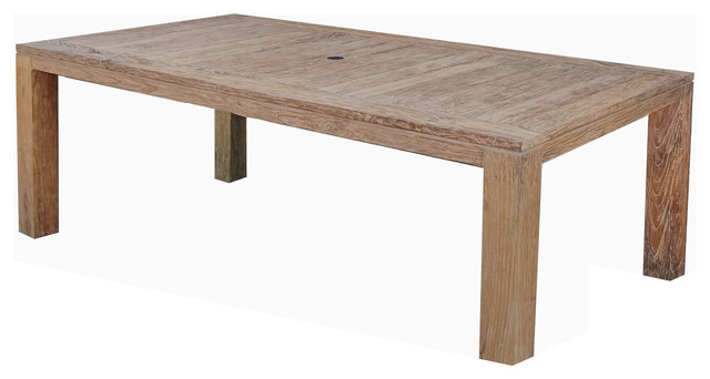 Emerald Home Reims Rustic Teak Dining Table Reclaimed Transitional Outdoor Tables By