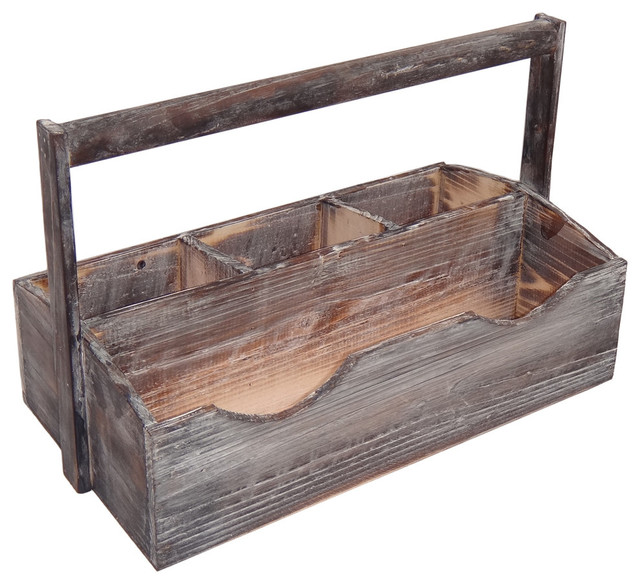 Attrayant 4 Slot Wooden Garden Caddy