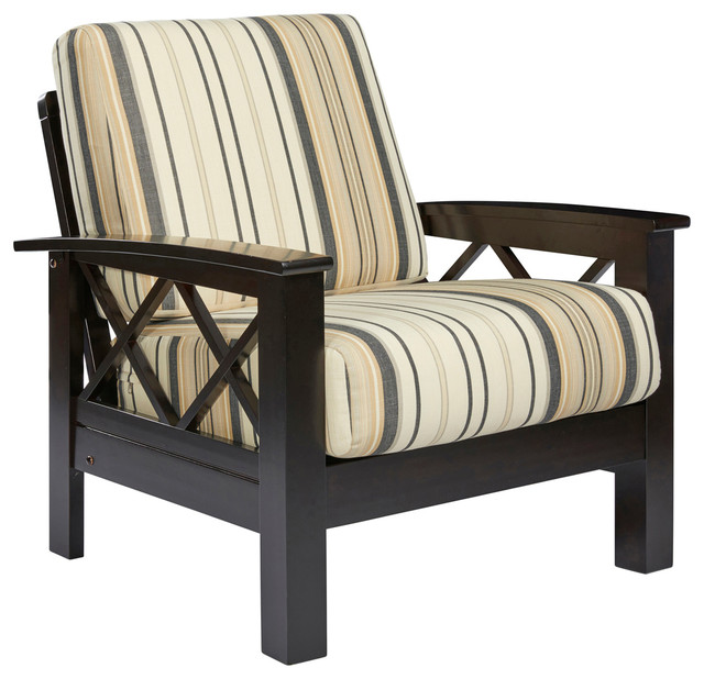 Riverwood X Design Arm Chair With Exposed Wood Frame