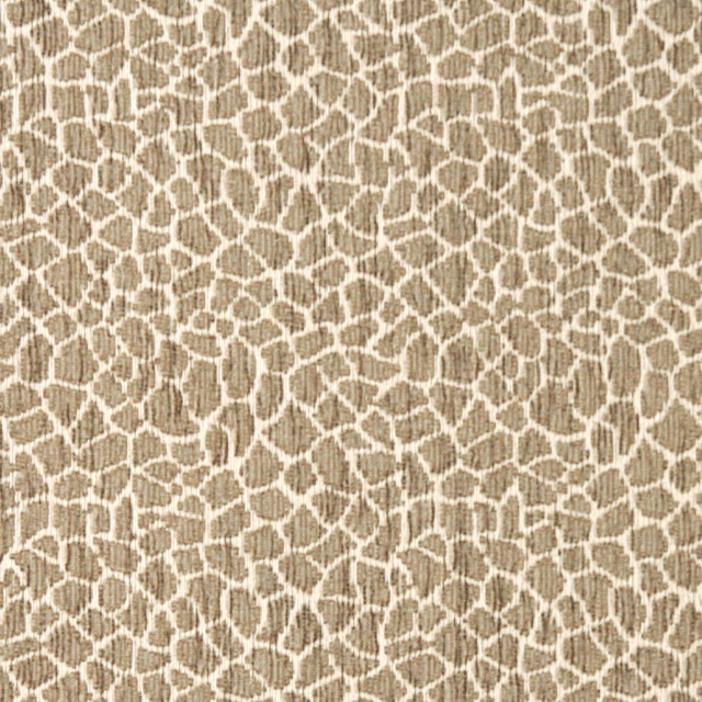 Beige Giraffe Woven Chenille Upholstery Fabric By The Yard