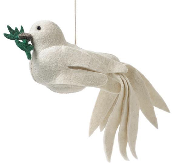 Dove Christmas Tree Topper - Scandinavian - Christmas Ornaments - by AHAlife - Dove Christmas Tree Topper - Scandinavian - Christmas Ornaments - By